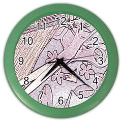 Newspaper Patterns Cutting Up Fabric Color Wall Clocks