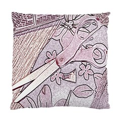 Newspaper Patterns Cutting Up Fabric Standard Cushion Case (two Sides)