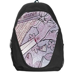 Newspaper Patterns Cutting Up Fabric Backpack Bag
