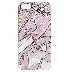 Newspaper Patterns Cutting Up Fabric Apple iPhone 5 Hardshell Case with Stand