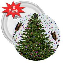 New Year S Eve New Year S Day 3  Buttons (10 pack)
