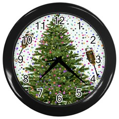 New Year S Eve New Year S Day Wall Clocks (Black)