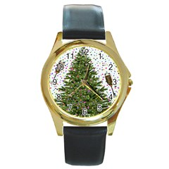 New Year S Eve New Year S Day Round Gold Metal Watch