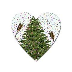 New Year S Eve New Year S Day Heart Magnet