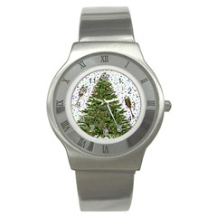 New Year S Eve New Year S Day Stainless Steel Watch