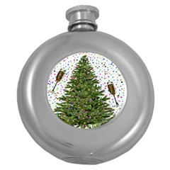 New Year S Eve New Year S Day Round Hip Flask (5 oz)