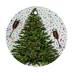 New Year S Eve New Year S Day Round Ornament (two Sides)