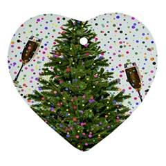 New Year S Eve New Year S Day Heart Ornament (Two Sides)