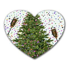 New Year S Eve New Year S Day Heart Mousepads