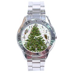 New Year S Eve New Year S Day Stainless Steel Analogue Watch
