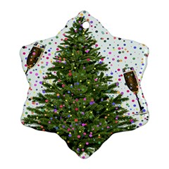New Year S Eve New Year S Day Snowflake Ornament (Two Sides)