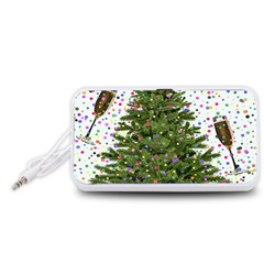 New Year S Eve New Year S Day Portable Speaker (white)