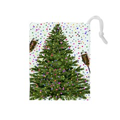 New Year S Eve New Year S Day Drawstring Pouches (medium)