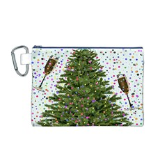 New Year S Eve New Year S Day Canvas Cosmetic Bag (m)