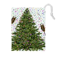 New Year S Eve New Year S Day Drawstring Pouches (Extra Large)