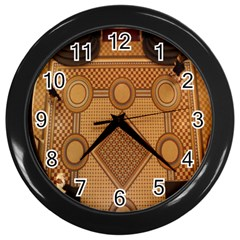 Mosaic The Elaborate Floor Pattern Of The Sydney Queen Victoria Building Wall Clocks (Black)