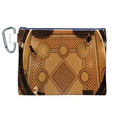 Mosaic The Elaborate Floor Pattern Of The Sydney Queen Victoria Building Canvas Cosmetic Bag (XL)
