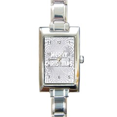 Oints Circle Christmas Merry Rectangle Italian Charm Watch