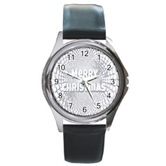 Oints Circle Christmas Merry Round Metal Watch