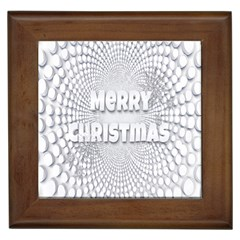 Oints Circle Christmas Merry Framed Tiles