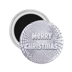 Oints Circle Christmas Merry 2 25  Magnets