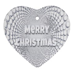 Oints Circle Christmas Merry Ornament (Heart)
