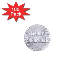 Oints Circle Christmas Merry 1  Mini Magnets (100 pack)