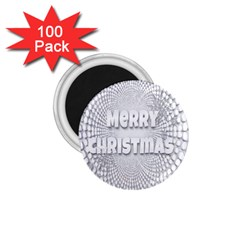 Oints Circle Christmas Merry 1.75  Magnets (100 pack)