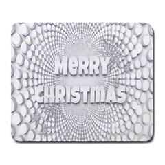 Oints Circle Christmas Merry Large Mousepads