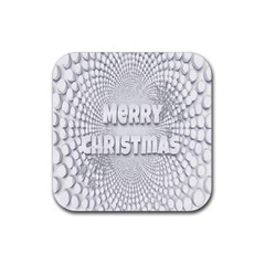 Oints Circle Christmas Merry Rubber Square Coaster (4 pack)