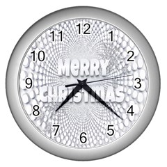 Oints Circle Christmas Merry Wall Clocks (Silver)