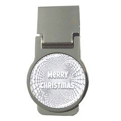 Oints Circle Christmas Merry Money Clips (Round)