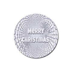 Oints Circle Christmas Merry Rubber Round Coaster (4 pack)
