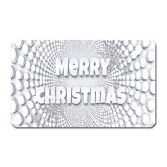 Oints Circle Christmas Merry Magnet (Rectangular)
