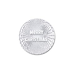 Oints Circle Christmas Merry Golf Ball Marker (4 pack)