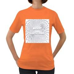 Oints Circle Christmas Merry Women s Dark T-Shirt