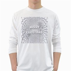 Oints Circle Christmas Merry White Long Sleeve T Shirts
