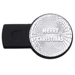 Oints Circle Christmas Merry USB Flash Drive Round (4 GB)