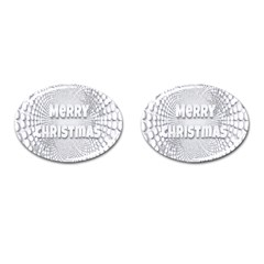 Oints Circle Christmas Merry Cufflinks (Oval)