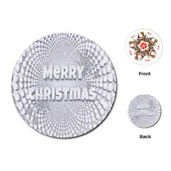 Oints Circle Christmas Merry Playing Cards (Round)