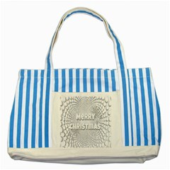 Oints Circle Christmas Merry Striped Blue Tote Bag