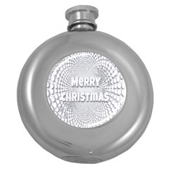 Oints Circle Christmas Merry Round Hip Flask (5 Oz)