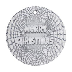Oints Circle Christmas Merry Round Ornament (Two Sides)