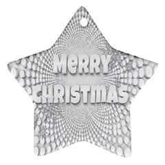Oints Circle Christmas Merry Star Ornament (Two Sides)