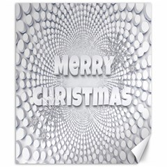 Oints Circle Christmas Merry Canvas 8  x 10
