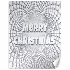 Oints Circle Christmas Merry Canvas 12  X 16