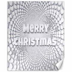 Oints Circle Christmas Merry Canvas 16  x 20