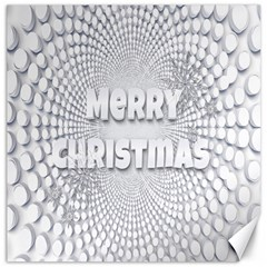 Oints Circle Christmas Merry Canvas 20  x 20