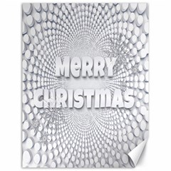 Oints Circle Christmas Merry Canvas 18  x 24