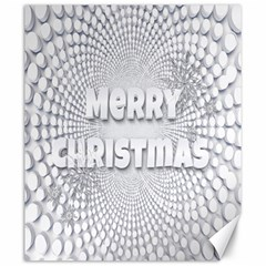 Oints Circle Christmas Merry Canvas 20  x 24